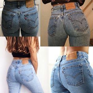 """LEVI'S Vintage 555 Guy Fit 10"""" Rise Jeans 8"""